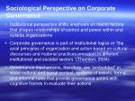 sociological perspective on corporate governance