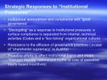 strategic responses to institutional pressures