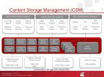 content storage management csm