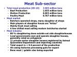 meat sub sector