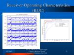 receiver operating characteristics roc