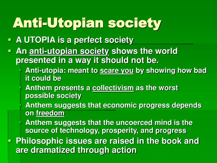 Anti-Utopian society