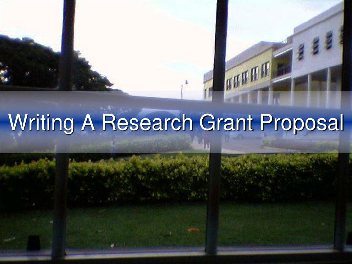 writing a research grant proposal n.