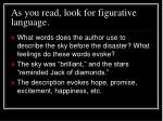 as you read look for figurative language