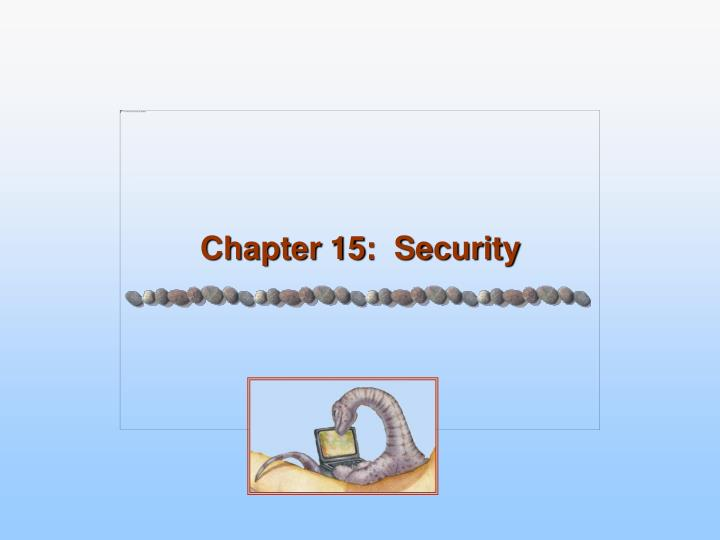 chapter 15 security n.