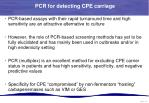 pcr for detecting cpe carriage4