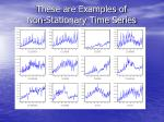 these are examples of non stationary time series