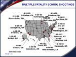 multiple fatality school shootings