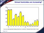school homicides are increasing