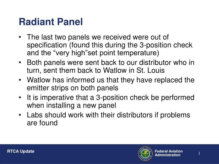 Radiant panel