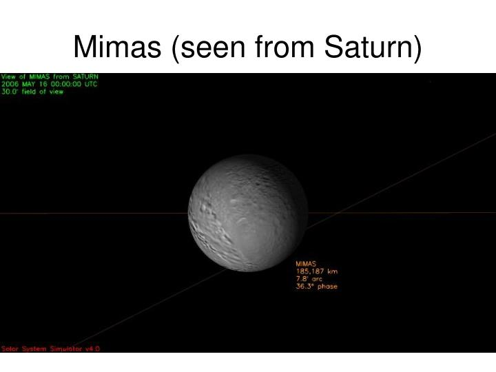 Mimas (seen from Saturn)