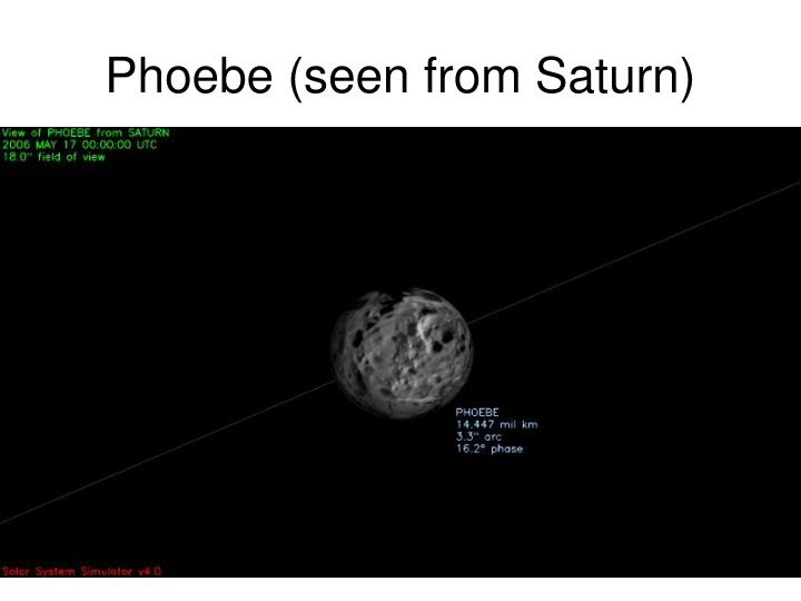 Phoebe (seen from Saturn)