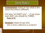 core rubric1