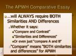the apwh comparative essay