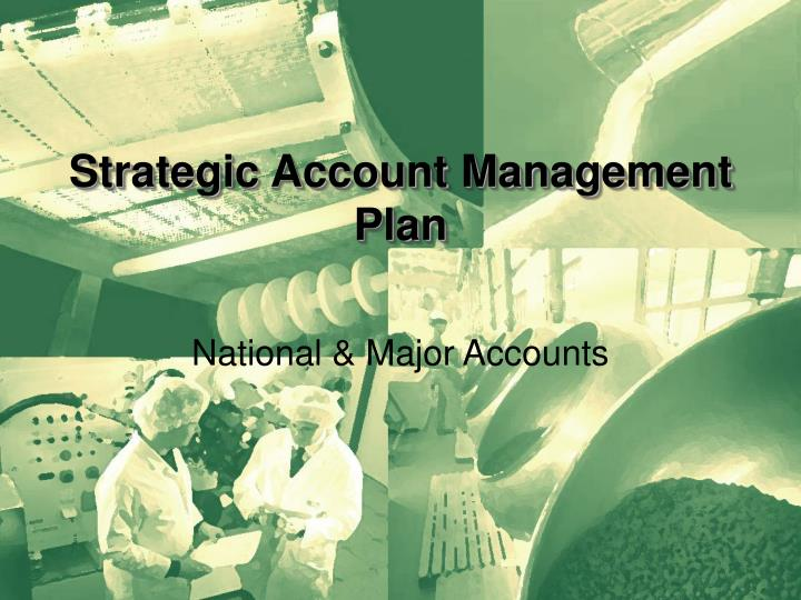 strategic account management plan n.