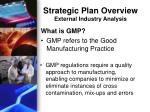 strategic plan overview external industry analysis1