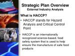 strategic plan overview external industry analysis2