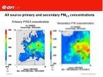 all source primary and secondary pm 2 5 concentrations