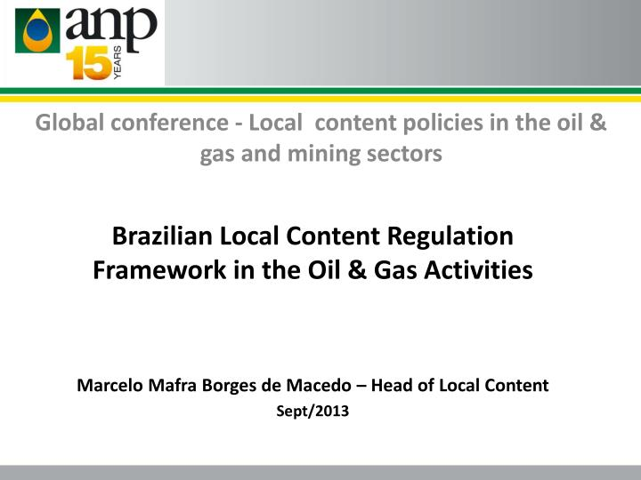 global conference local content policies in the oil gas and mining sectors n.