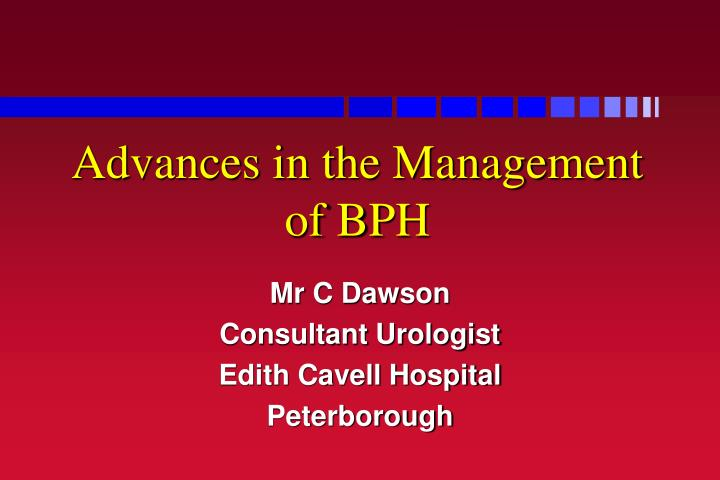 advances in the management of bph n.