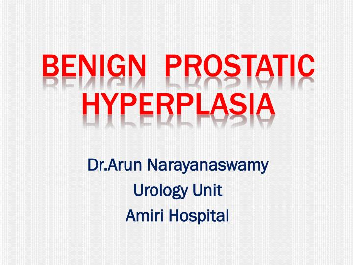 dr arun narayanaswamy urology unit amiri hospital n.