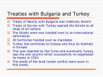 treaties with bulgaria and turkey