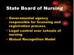 state board of nursing