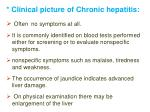 clinical picture of chronic hepatitis
