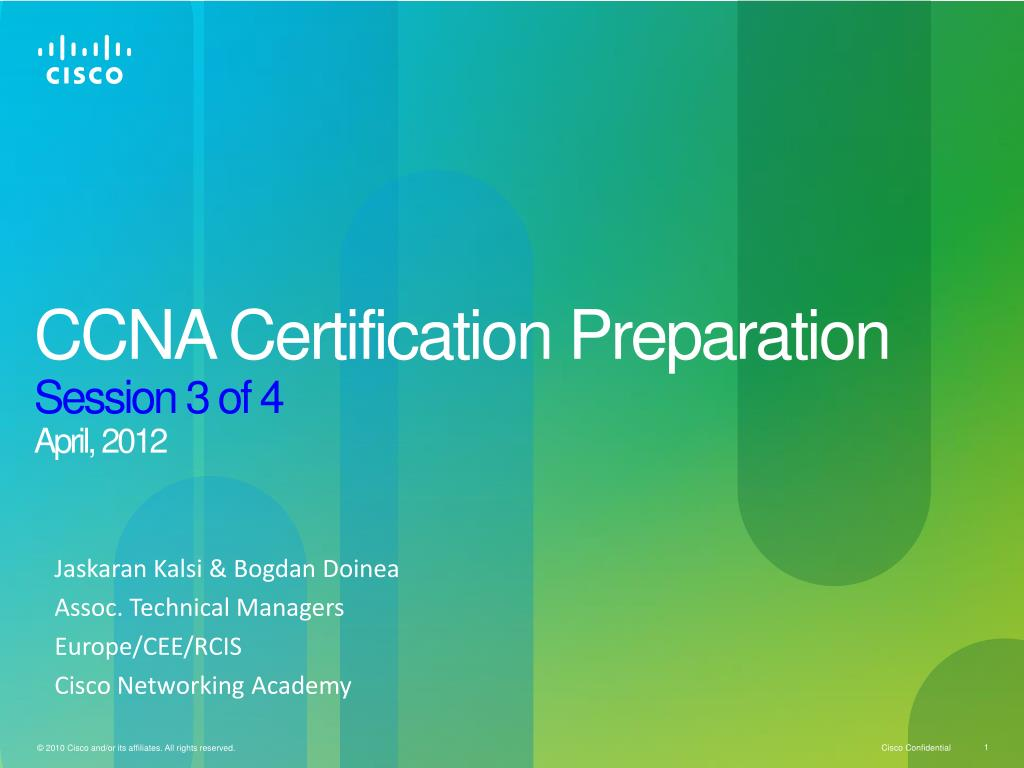 Ppt Ccna Certification Preparation Session 3 Of 4 April 2012