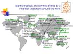 islamic products and services offered by 300 financial institutions around the world