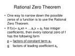 rational zero theorem