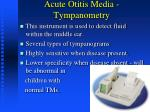 acute otitis media tympanometry