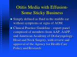 otitis media with effusion some sticky business