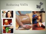 reducing vata