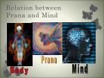 relation between prana and mind