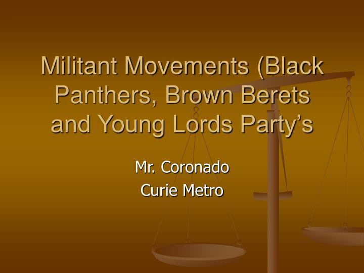 militant movements black panthers brown berets and young lords party s n.