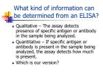 what kind of information can be determined from an elisa