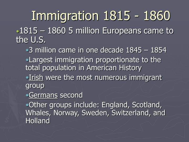 immigration 1815 1860 n.