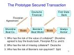 the prototype secured transaction6