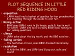 plot sequence in little red riding hood