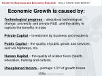 economic growth is caused by