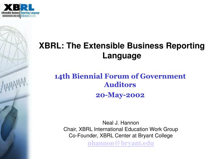 xbrl the extensible business reporting language n.