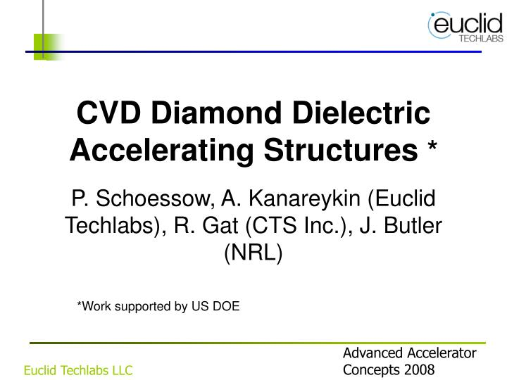 cvd diamond dielectric accelerating structures n.