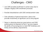 challenges cmo