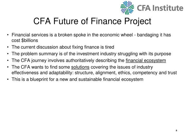 CFA Future of Finance Project
