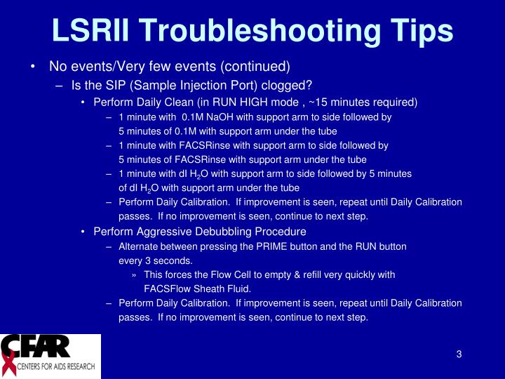 Lsrii troubleshooting tips2