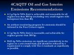 4caqtf oil and gas interim emissions recommendations