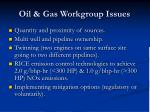 oil gas workgroup issues