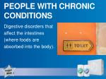 people with chronic conditions
