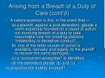 arising from a breach of a duty of care cont d2